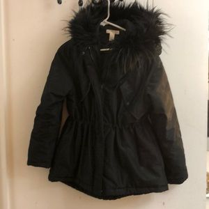 H&M faux fur puff coat
